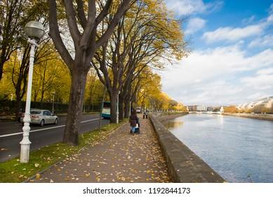 idyllic ride in autumn