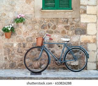 Idyllic street scene in Valldemossa on Mallorca island