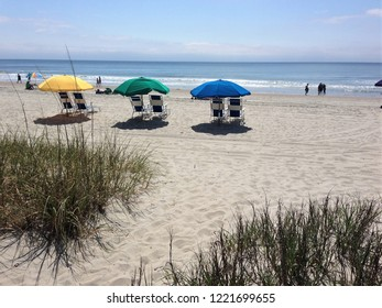 Idyllic summer day at the beach.