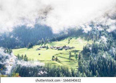 Idyllic summer landscape in the swissAlps near Davos, Switzerland