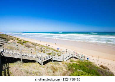 The idyllic Thirteenth Beach near Barwon Heads on a hot summer's day in Victoria, Australia