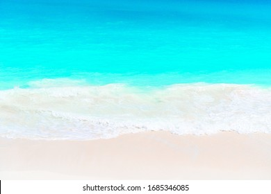 Idyllic tropical beach with white sand, turquoise ocean water