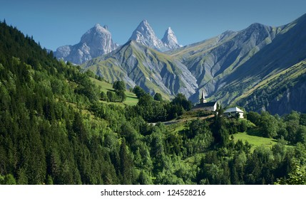 Idyllic view from French Alps.