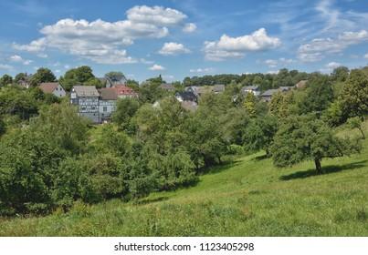idyllic Village in Bergisches Land,North Rhine westphalia,Germany