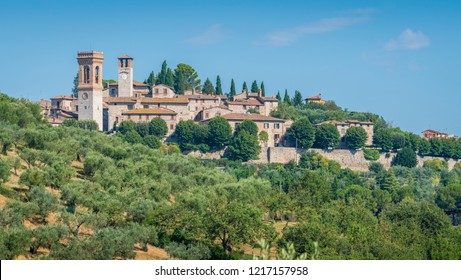 The idyllic village of Corciano, near Perugia, in the Umbria region of Italy.