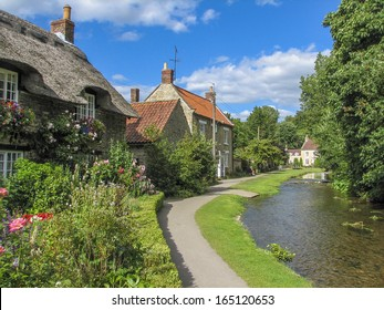 Idyllic village scene, featuring its own stream