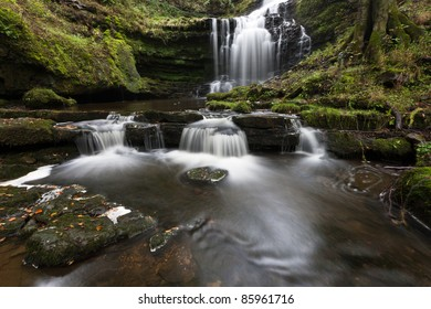 Idyllic waterfall at Scaleber Force, Yorkshire Dales
