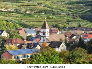 idyllic Wine Village of Achkarren in Kaiserstuhl Wine region,Black Forest,Germany