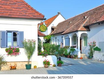 idyllic Wine Village of Moerbisch at Lake Neusiedl in Burgenland,Austria
