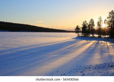 Idyllic winter scenery in Finland