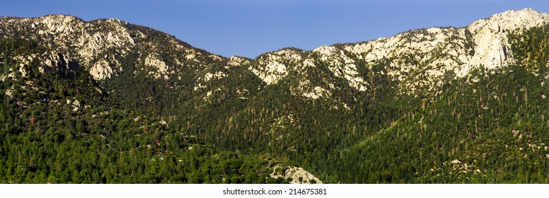 Idyllwild, California landscape on a summer afternoon.