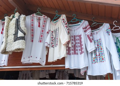 Ie, Traditional romanian blouse in Bucovina, at Voronet Monastery