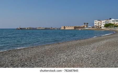 Ierapetra, Crete - Coastal View with Fortress