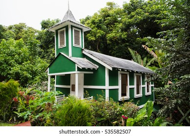 Ierusalema Hou Church in Halawa Valley, Molokai Island, Hawaii