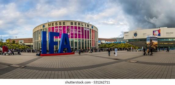 IFA, MESSE, BERLIN - SEPTEMBER 5 2016: Internationale Funkausstellung Berlin (International radio exhibition Berlin, aka Berlin Radio Show) is one of oldest industrial exhibitions, Germany