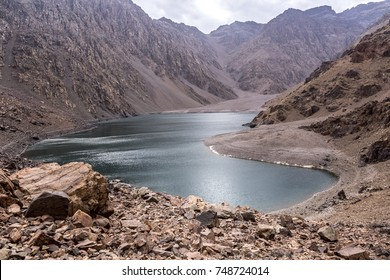 Ifni Lake in southern part of High Atlas mountains