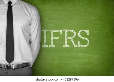 IFRS text on blackboard