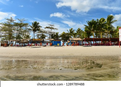 Igarassu, Brazil - Circa December 2018: A view from the speedboat arriving on Coroa do Aviao islet