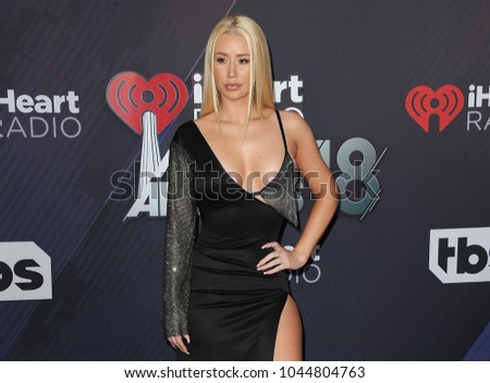 Iggy Azalea at the 2018 iHeartRadio Music Awards held at the Forum in Inglewood, USA on March 11, 2018.