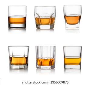 iGlass of whisky isolated white background