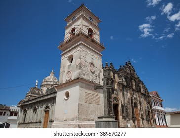 The Iglesia de La Merced Church with it's famous bell tower in Granada, Nicaragua, 5 Mar 2016