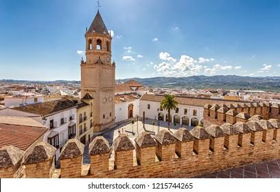 Iglesia de San Juan Bautista, Plaza de la Constitucion of Velez-Malaga. Velez-Malaga, Costa del Sol, Andalucía, Spain.