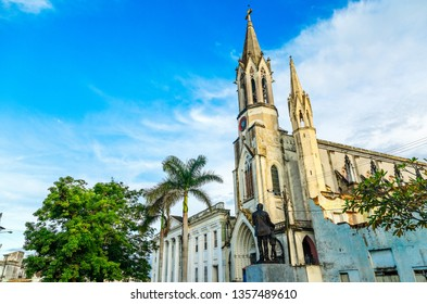 Iglesia del Sagrado Corazon de Jesus or Church of the Sacred Heart of Jesus, old cathedral of Camaguey city, Cuba