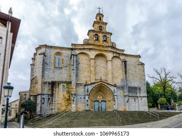 The Iglesia Santa Maria church in Gernika, a historic town in the province of Biscay (Bizkaya), Basque Country, Spain.