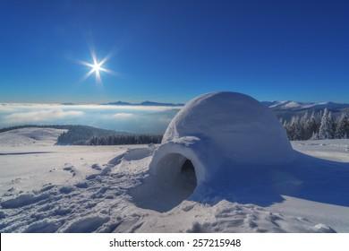igloo in the high mountain