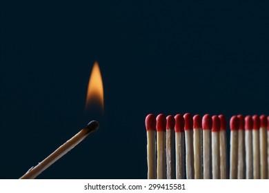 Igniting match