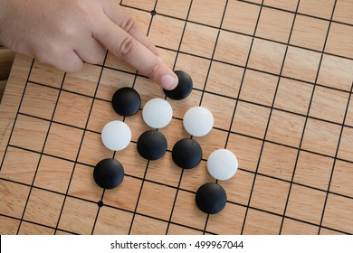igo chinese board game with black and white ston,Japan Go