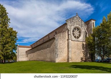 Igreja de Santa Clara Church part of the former Santa Clara Nunnery in the city of Santarem, Portugal - 13th century Mendicant Gothic Architecture