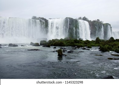 Iguacu Falls are waterfalls of the Iguazu River on the border of the Argentine province of Misiones and the Brazilian state of Parana. Together, they make up the largest waterfall system in the world.