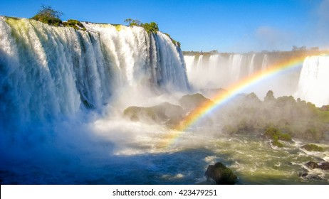 Iguacu Falls are waterfalls of the Iguazu River on the border between Brazil and Argentina. It is one of the most well-known falls in the world.