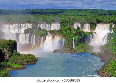 Iguassu Falls on Argentina side from Brazil