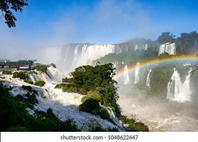 Iguassu Falls on the border between Brazil and Argentina