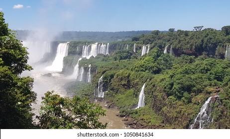 Iguassu Falls and rainforest, Brazil