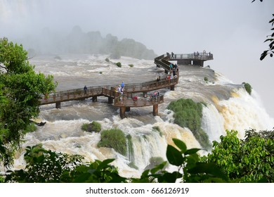 Iguassu Waterfall in Brazil