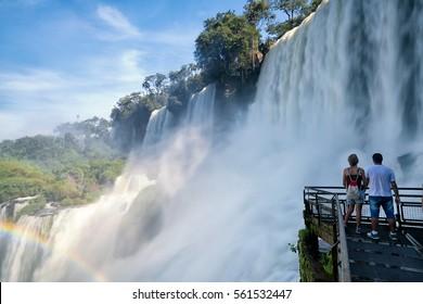 Iguazu falls, 7 wonder of the world in - Argentina