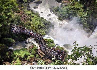 Iguazu Falls (aka Iguassu Falls or Cataratas del Iguazu), Misiones Province, Argentina