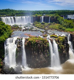 Iguazu Falls, biggest waterfall in the world, brazil and argentina.