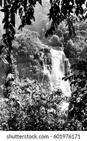 Iguazu Falls, Brazil. Black and white style.