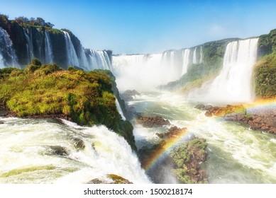 Iguazu Falls (Iguacu Falls) on the Border of Brazil and Argentina