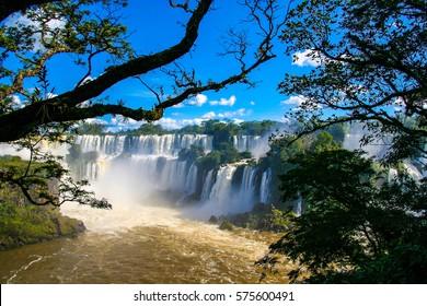 The Iguazu Falls, Iguassu Falls, or Iguacu Falls are waterfalls of the Iguazu River on the border between Argentina and Brazil