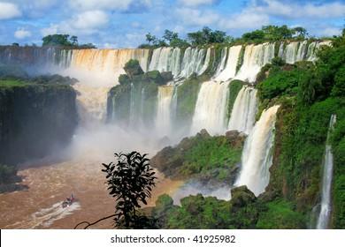 Iguazu falls in Misiones province, Argentina