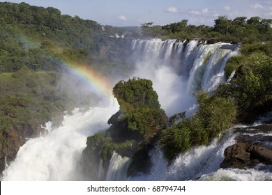 Iguazu Falls on the Border of Argentina & Brazil
