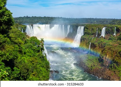 Iguazu Falls, on the border of Brazil, Argentina, and Paraguay.
