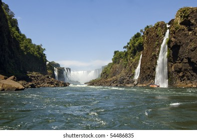 Iguazu Falls is on the border of Brazil and Argentina.  It is recognized as a UNESCO World Hertiage Site for it's pure awesomeness.