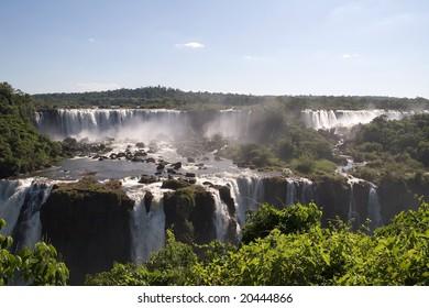 Iguazu Falls as seen from Brasil looking toward Argentina