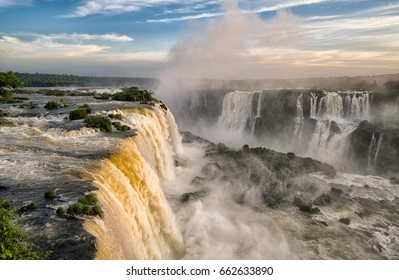Iguazu falls : Stunning view of falls, Foz do Igacu - Brazil